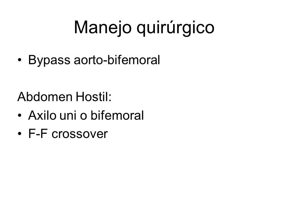 Manejo quirúrgico Bypass aorto-bifemoral Abdomen Hostil: