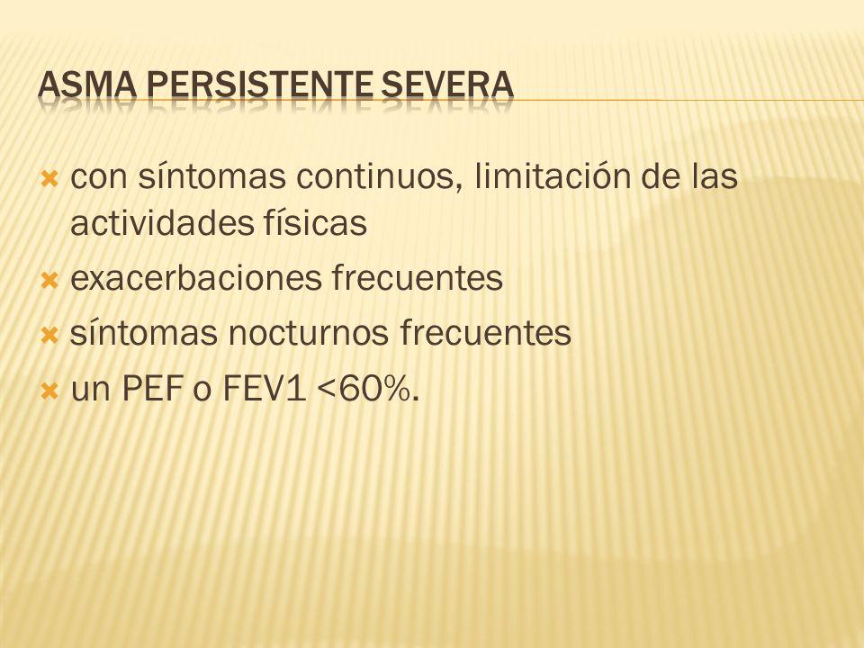 ASMA PERSISTENTE SEVERA