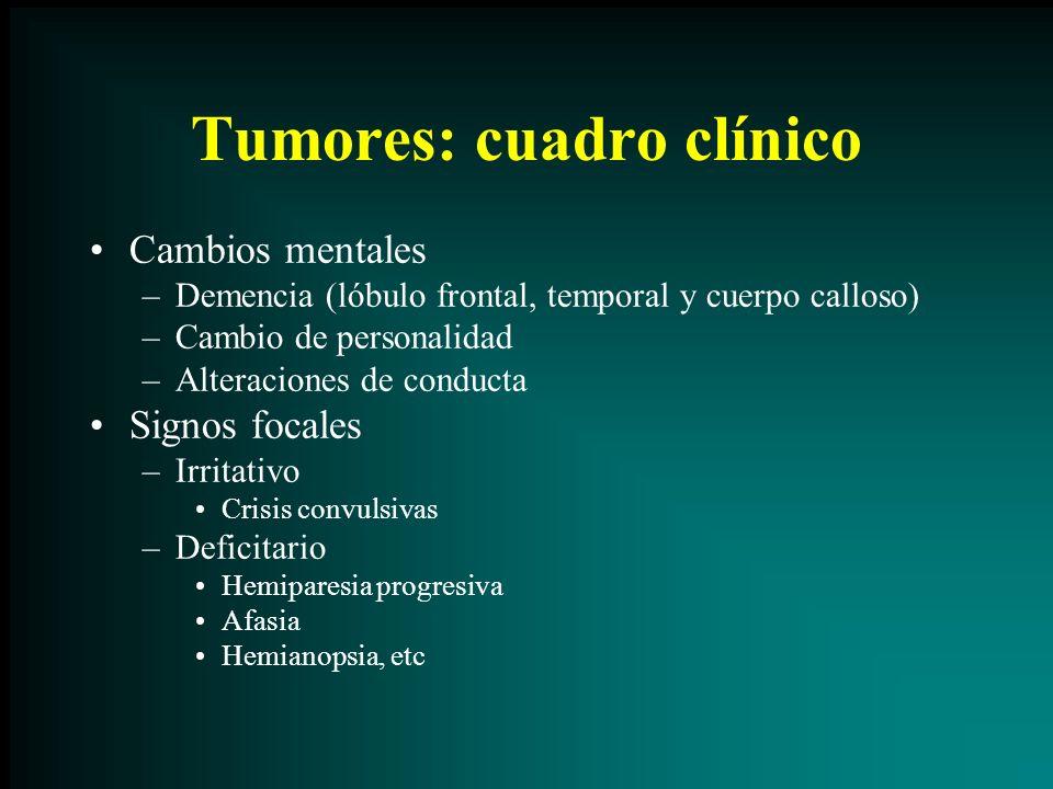 Tumores: cuadro clínico