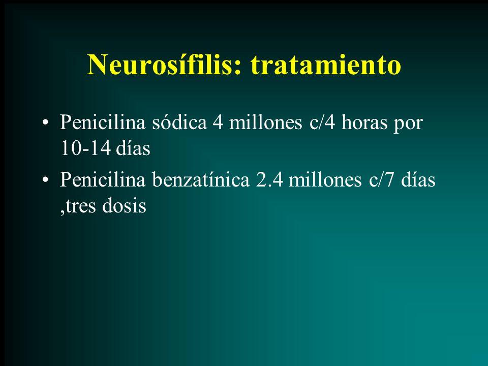 Neurosífilis: tratamiento