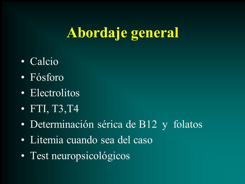 Abordaje general Calcio Fósforo Electrolitos FTI, T3,T4