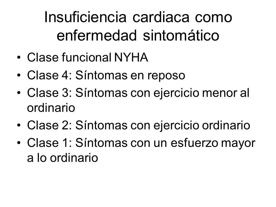 Insuficiencia cardiaca como enfermedad sintomático