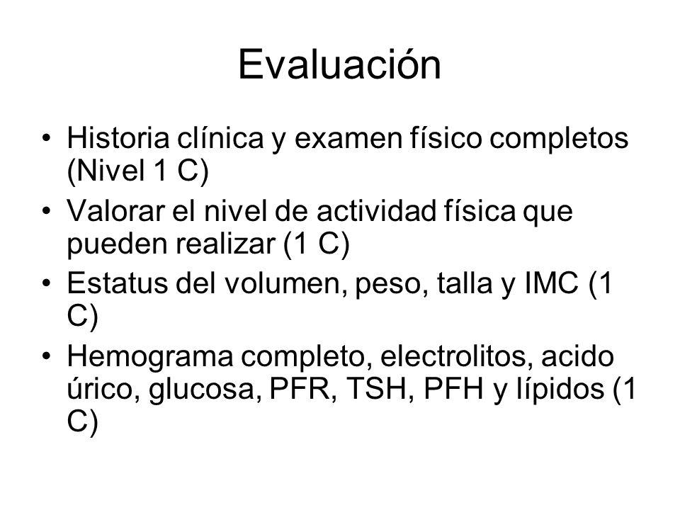 Evaluación Historia clínica y examen físico completos (Nivel 1 C)