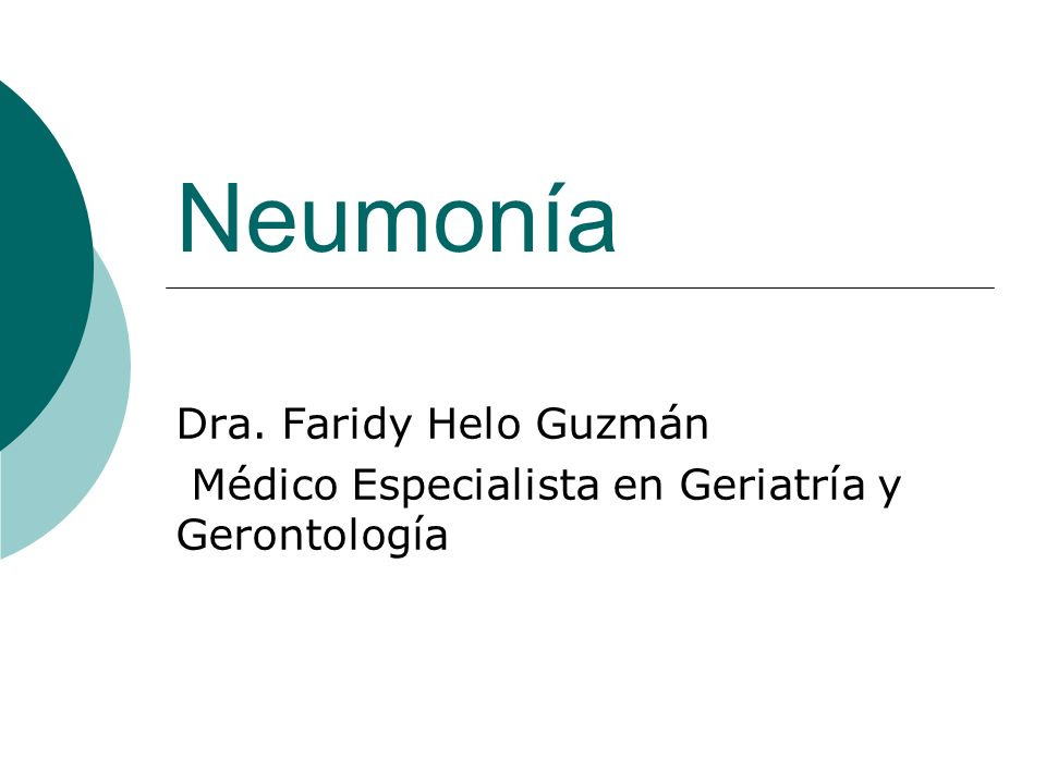Neumonía Dra. Faridy Helo Guzmán