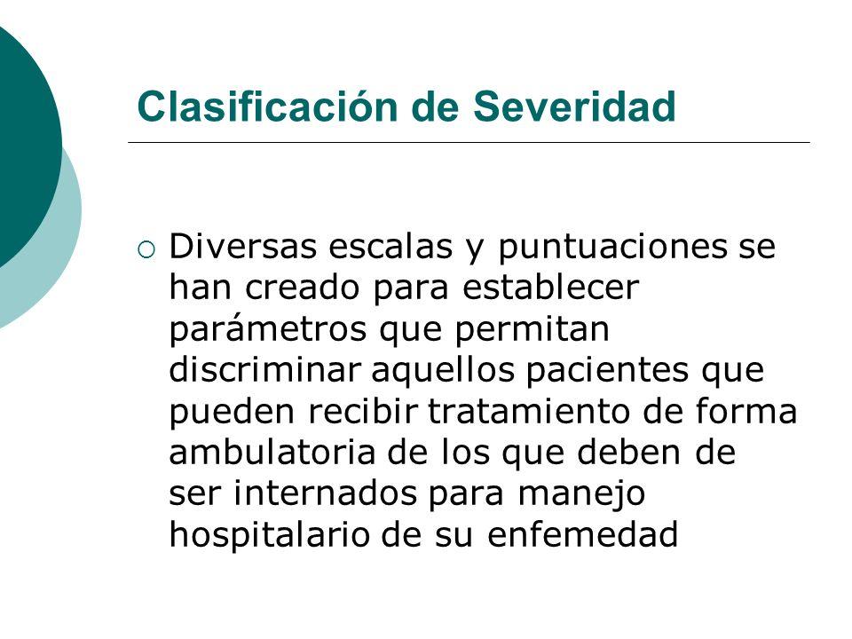Clasificación de Severidad