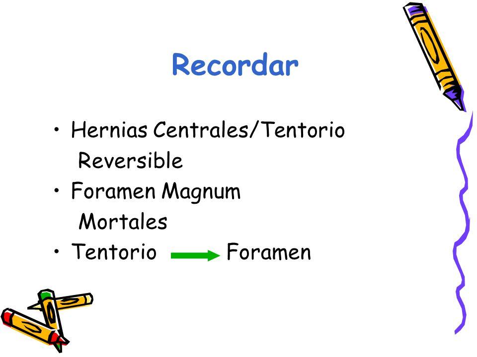 Recordar Hernias Centrales/Tentorio Reversible Foramen Magnum Mortales