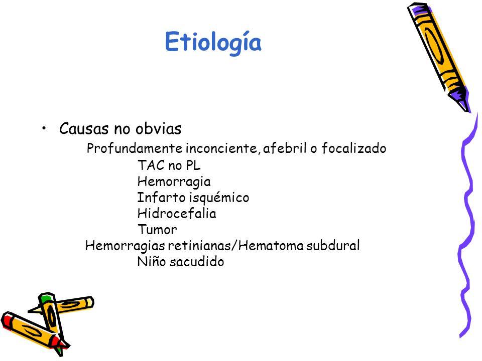Etiología Causas no obvias