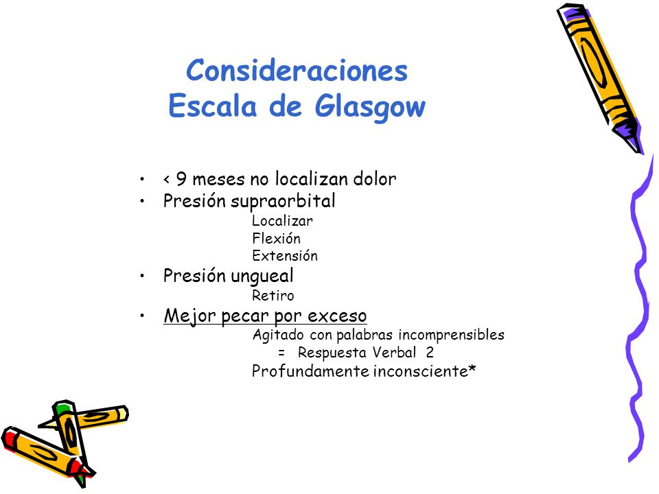 Consideraciones Escala de Glasgow