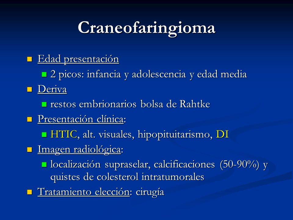 Craneofaringioma Edad presentación