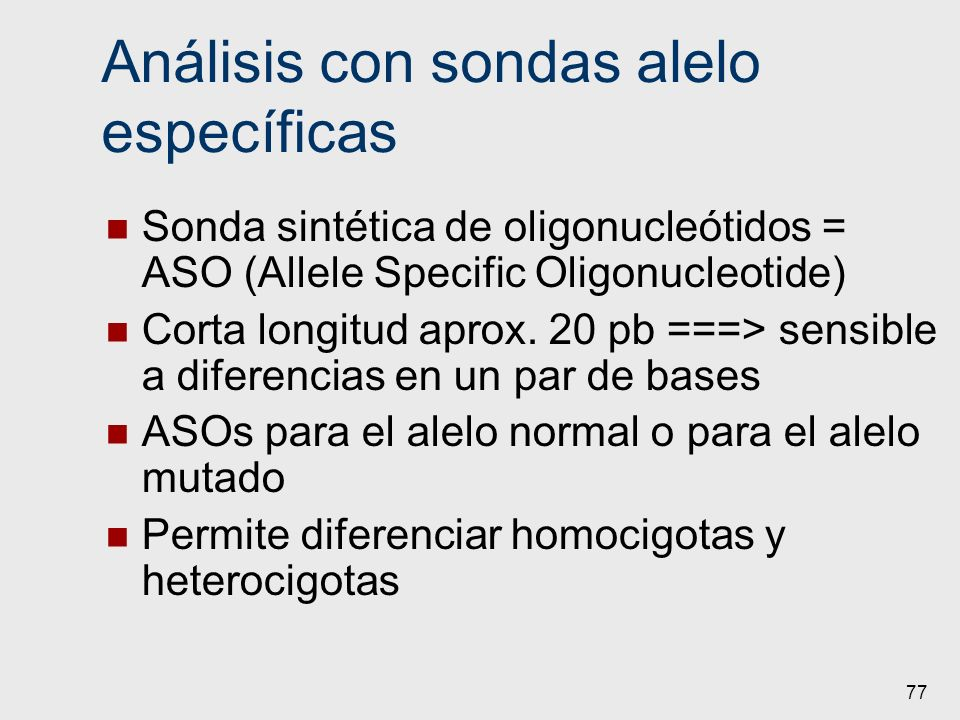 Análisis con sondas alelo específicas