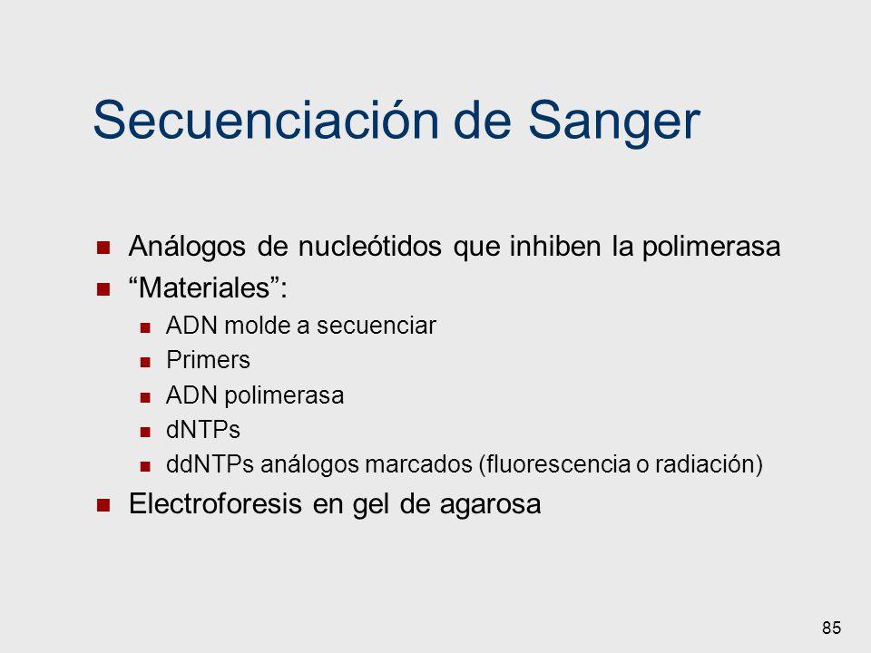 Secuenciación de Sanger