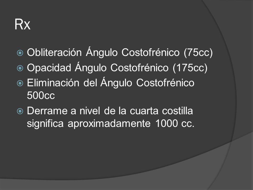 Rx Obliteración Ángulo Costofrénico (75cc)
