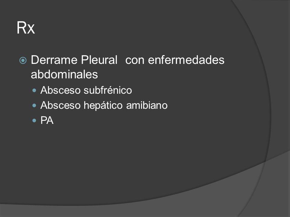 Rx Derrame Pleural con enfermedades abdominales Absceso subfrénico