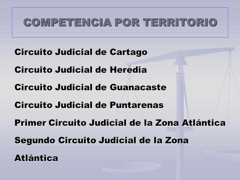 COMPETENCIA POR TERRITORIO