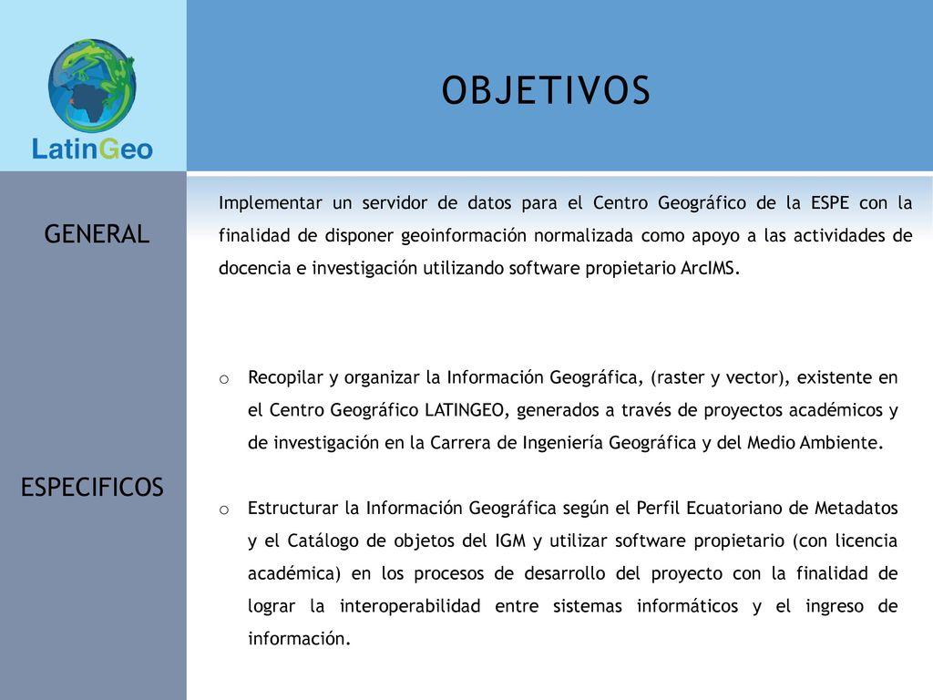 IMPLEMENTACIÓN DEL GEOPORTAL PARA EL CENTRO GEOGRÁFICO DE LA ...