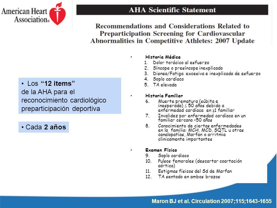 reconocimiento cardiológico preparticipación deportiva