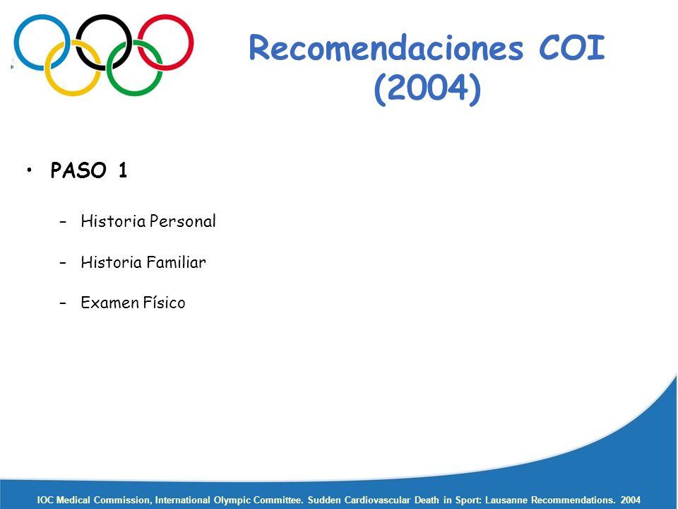 Recomendaciones COI (2004)