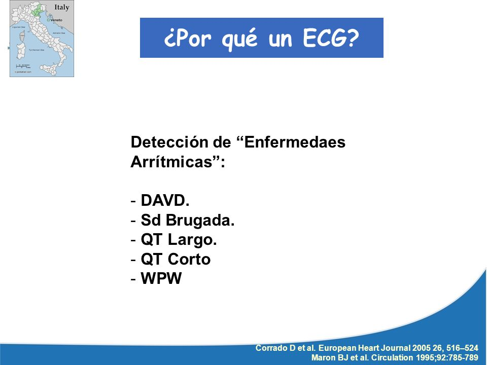 ¿Por qué un ECG Detección de Enfermedaes Arrítmicas : DAVD.