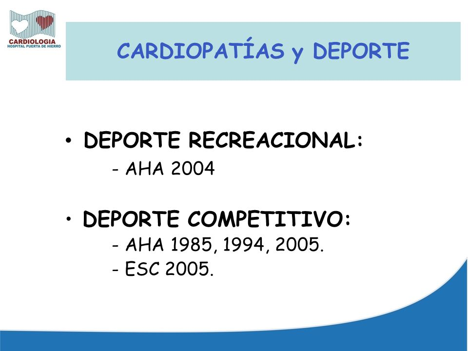 CARDIOPATÍAS y DEPORTE