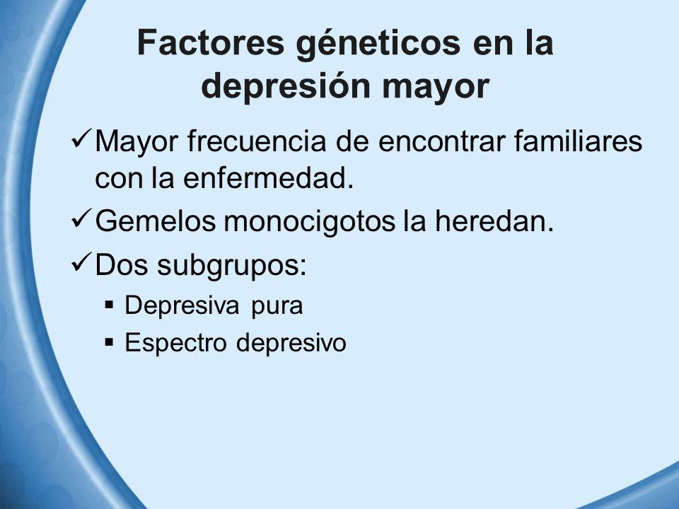 Factores géneticos en la depresión mayor