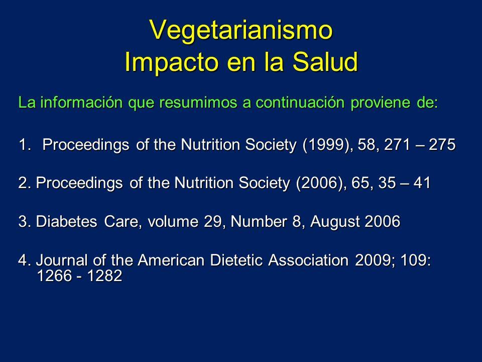 Vegetarianismo Impacto en la Salud