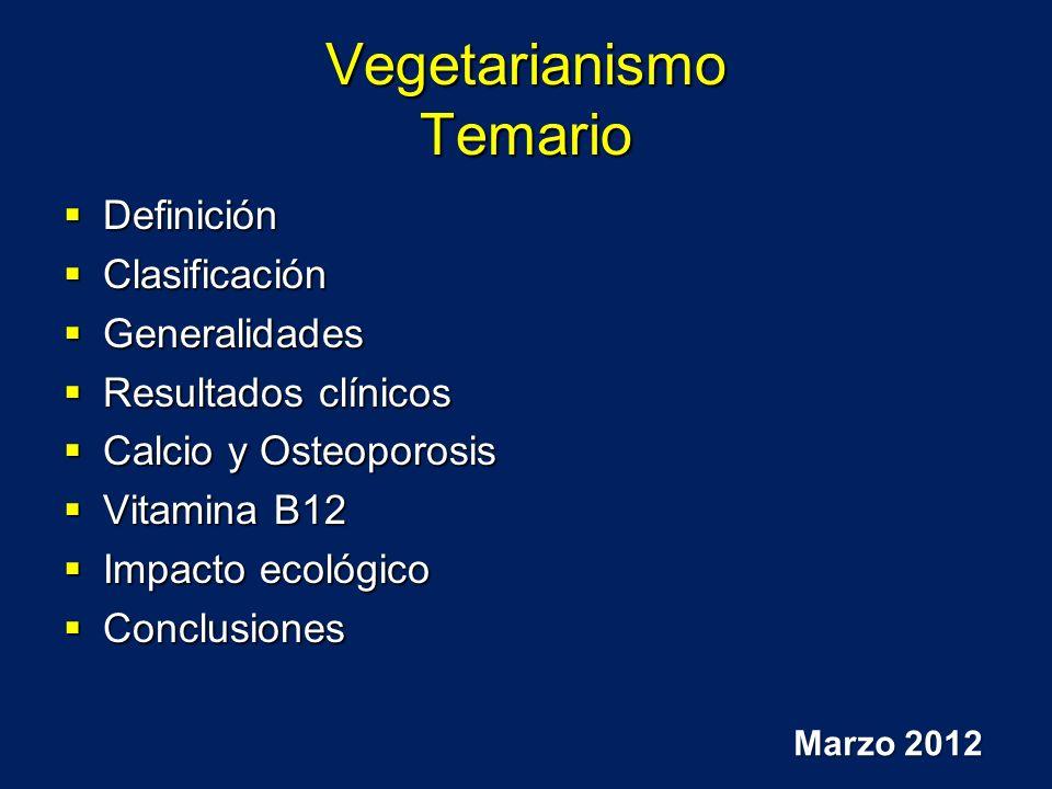 Vegetarianismo Temario
