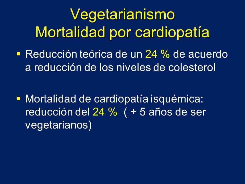 Vegetarianismo Mortalidad por cardiopatía