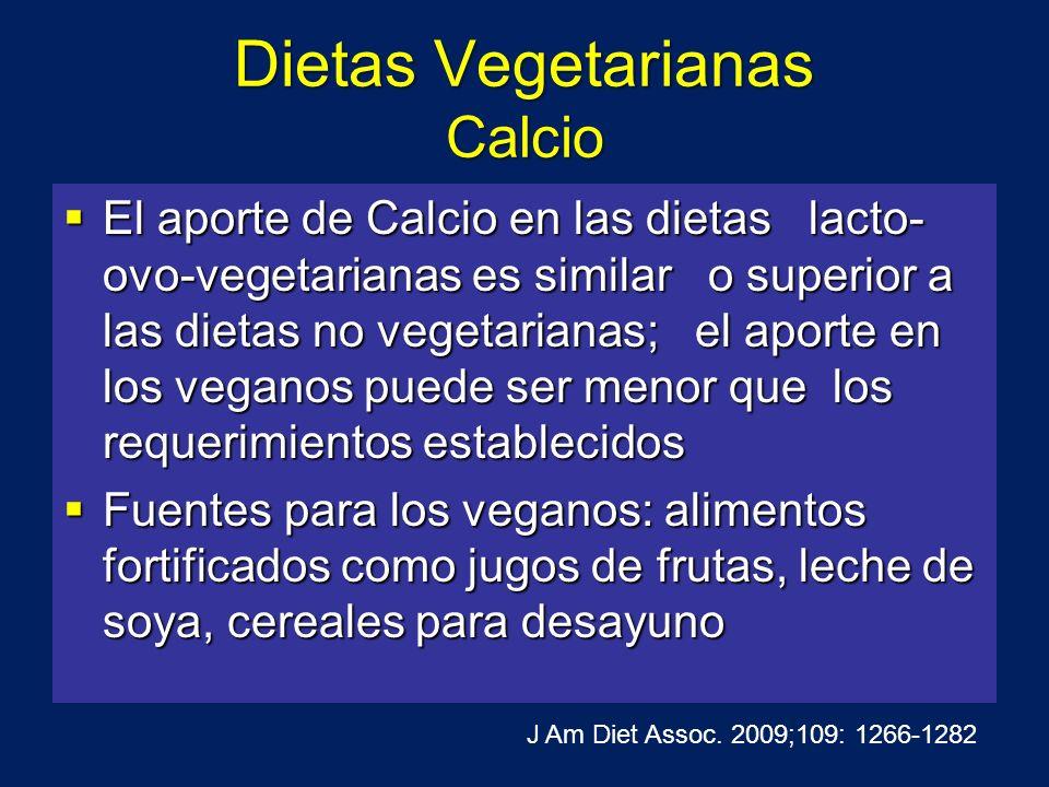 Dietas Vegetarianas Calcio