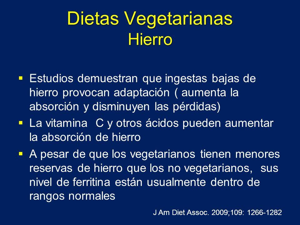 Dietas Vegetarianas Hierro