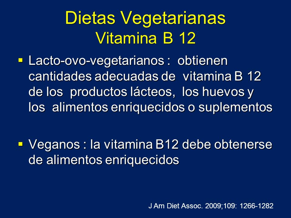 Dietas Vegetarianas Vitamina B 12