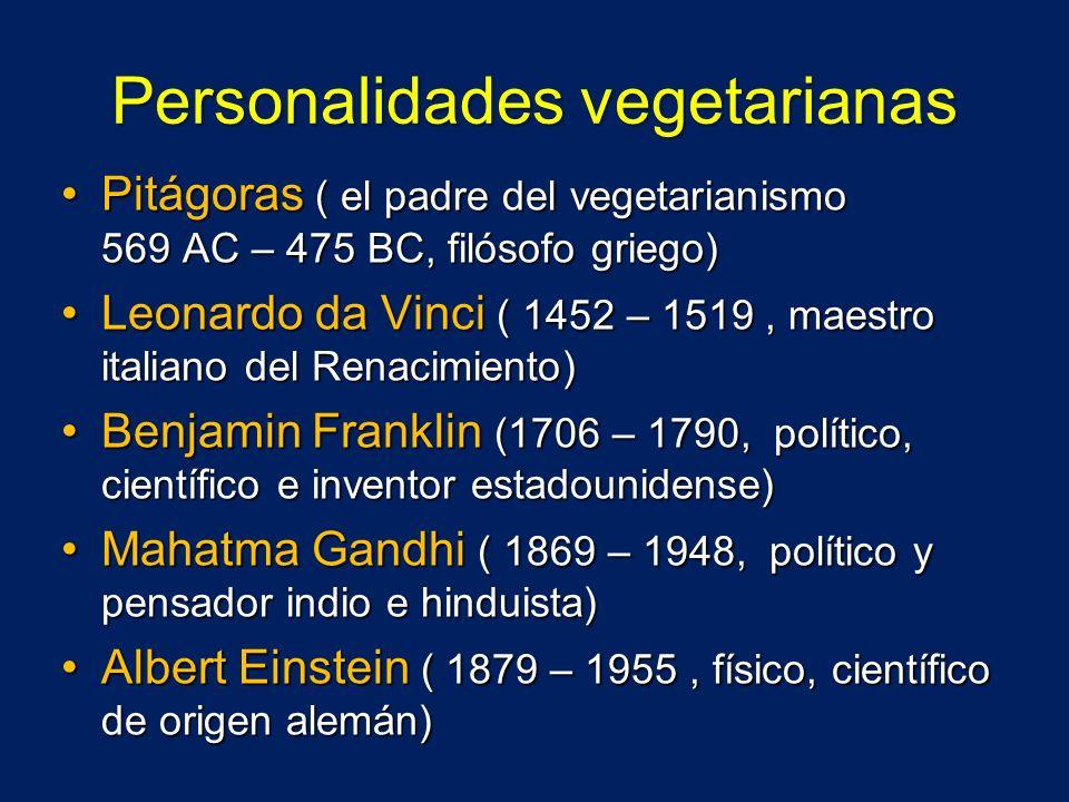 Personalidades vegetarianas