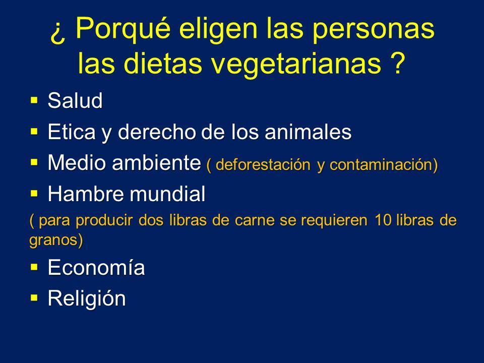 ¿ Porqué eligen las personas las dietas vegetarianas