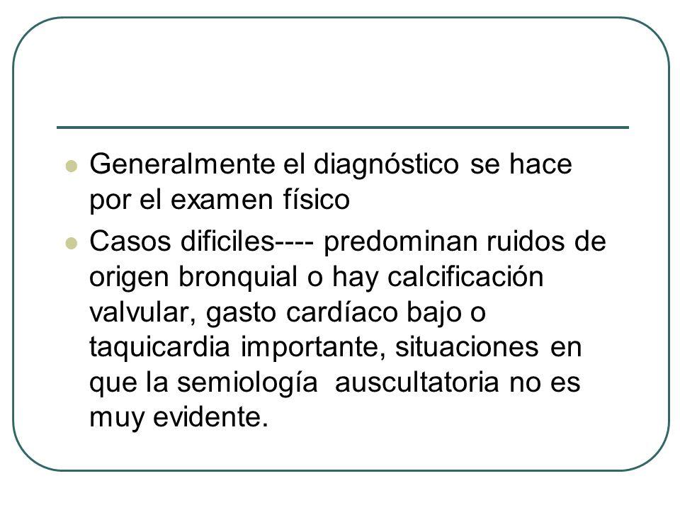 Generalmente el diagnóstico se hace por el examen físico