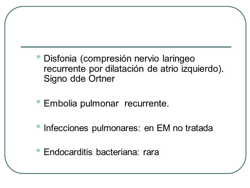Embolia pulmonar recurrente.