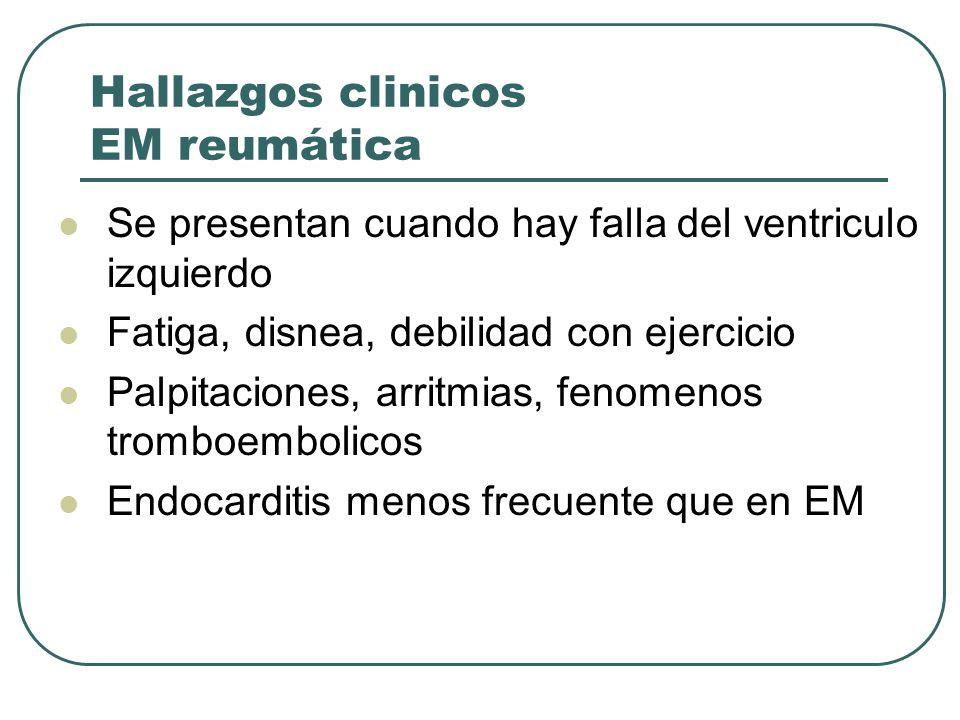 Hallazgos clinicos EM reumática