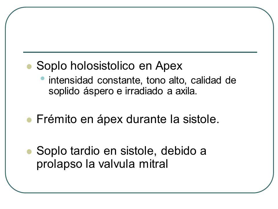Soplo holosistolico en Apex