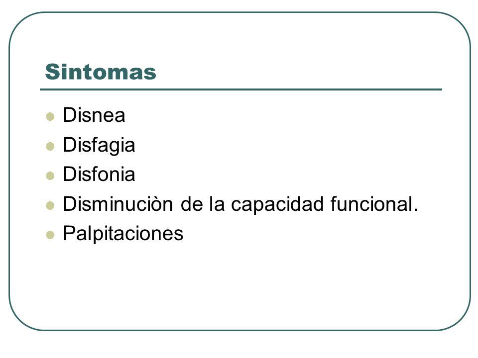 Sintomas Disnea Disfagia Disfonia