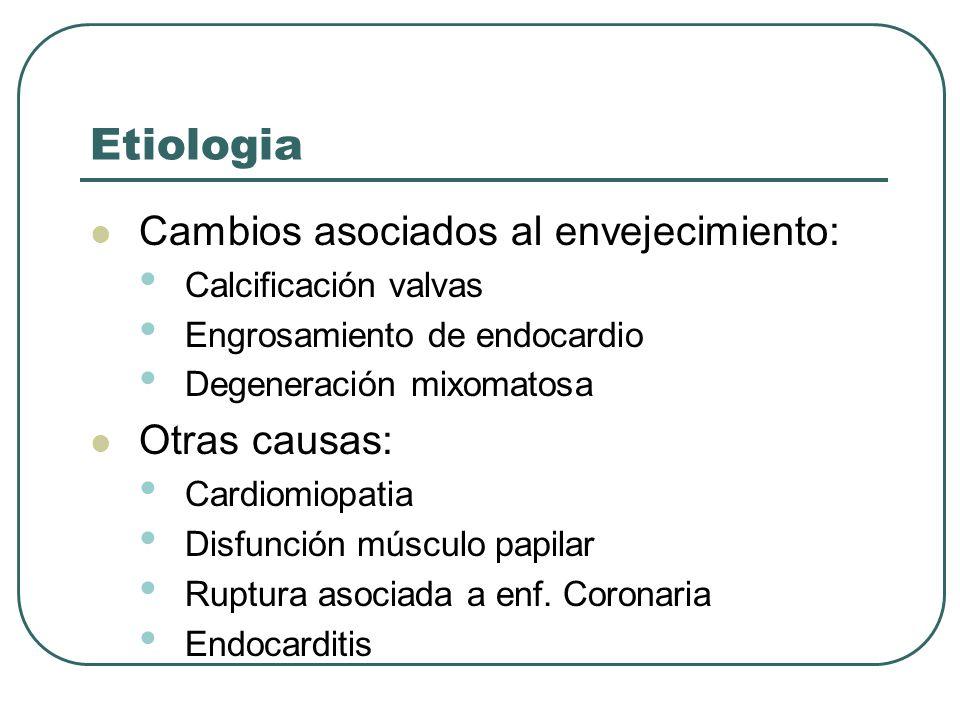Etiologia Cambios asociados al envejecimiento: Otras causas: