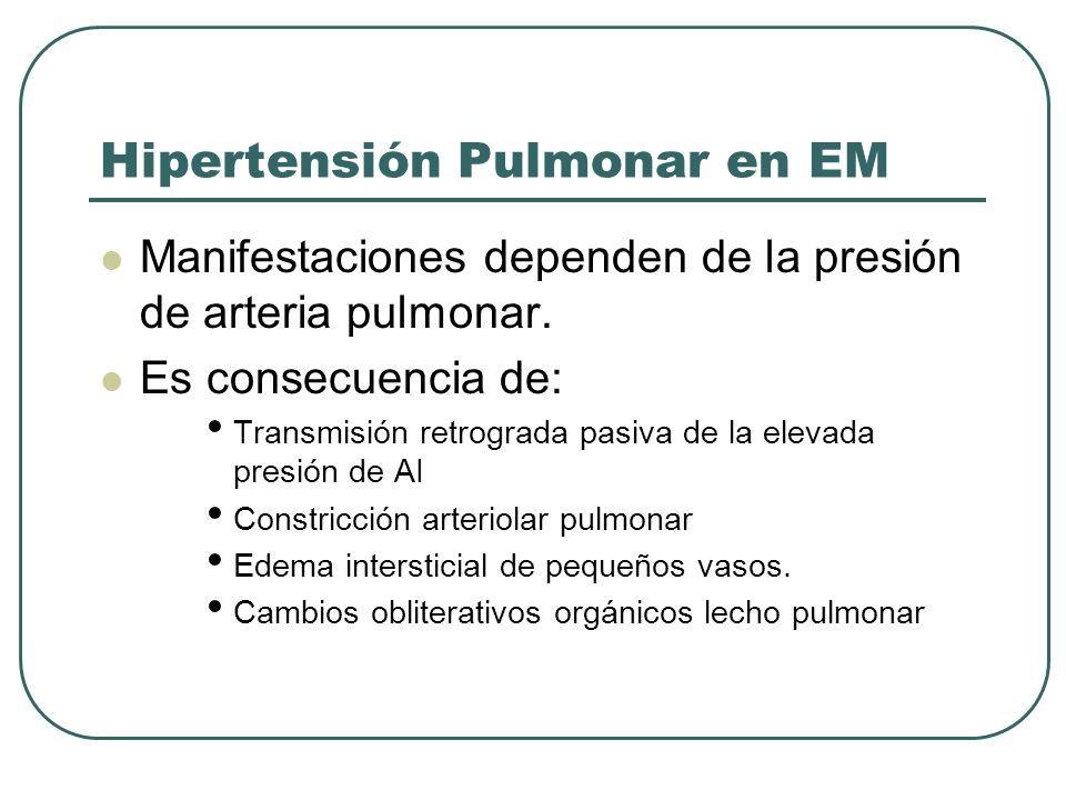 Hipertensión Pulmonar en EM
