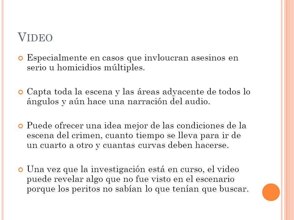 Video Especialmente en casos que invloucran asesinos en serio u homicidios múltiples.