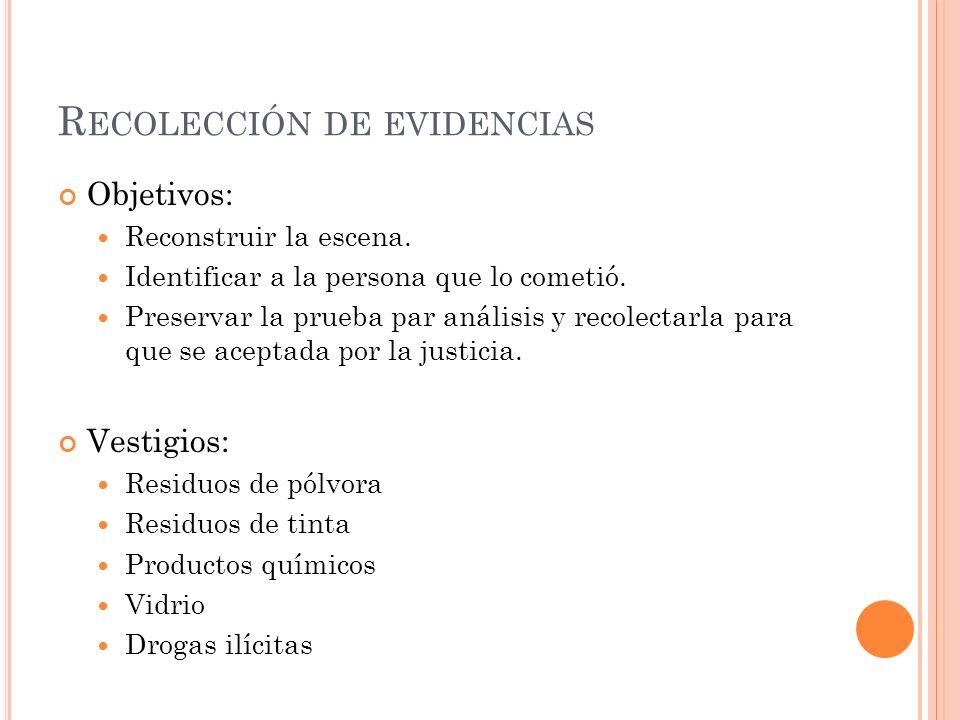 Recolección de evidencias