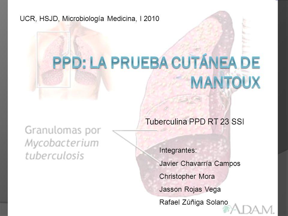 PPD: la prueba cutánea de Mantoux