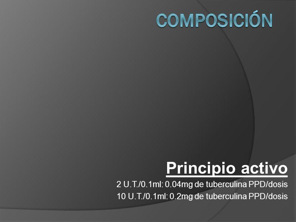 Composición Principio activo