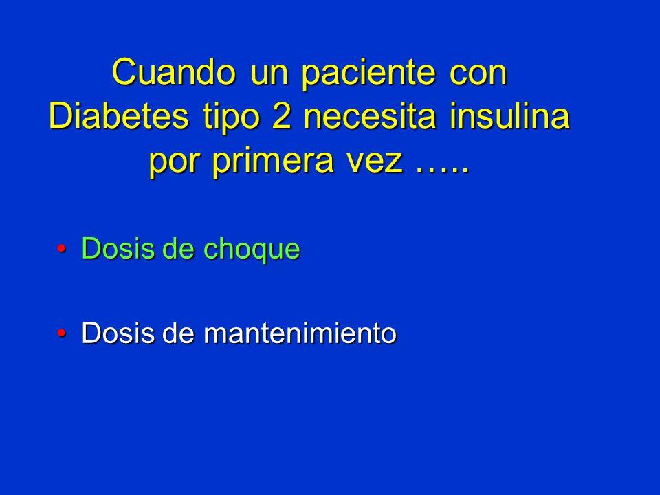 Cuando un paciente con Diabetes tipo 2 necesita insulina por primera vez …..