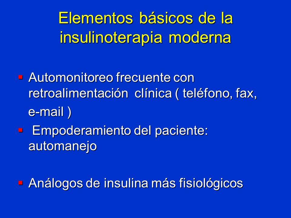 Elementos básicos de la insulinoterapia moderna