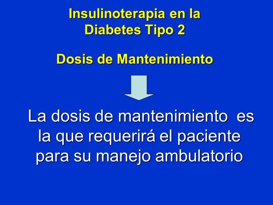 Insulinoterapia en la Diabetes Tipo 2 Dosis de Mantenimiento