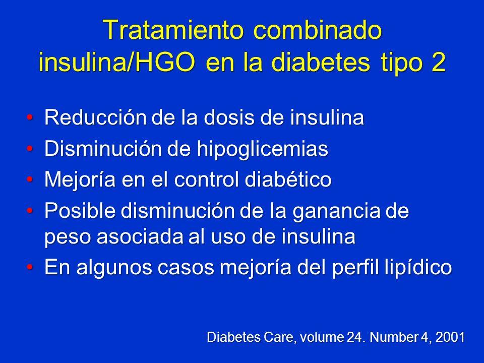 Tratamiento combinado insulina/HGO en la diabetes tipo 2