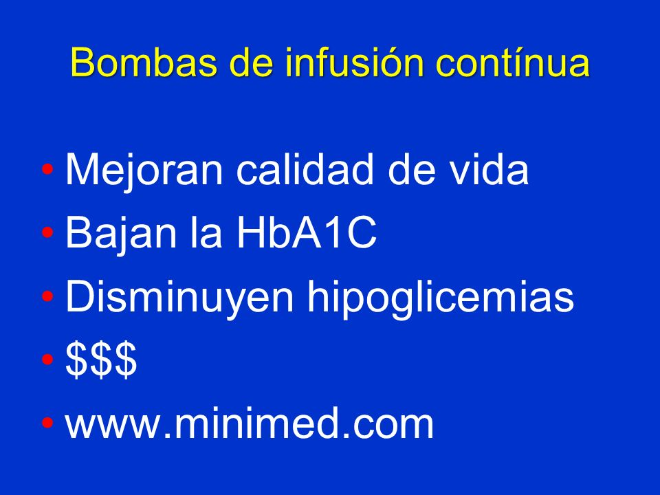 Bombas de infusión contínua
