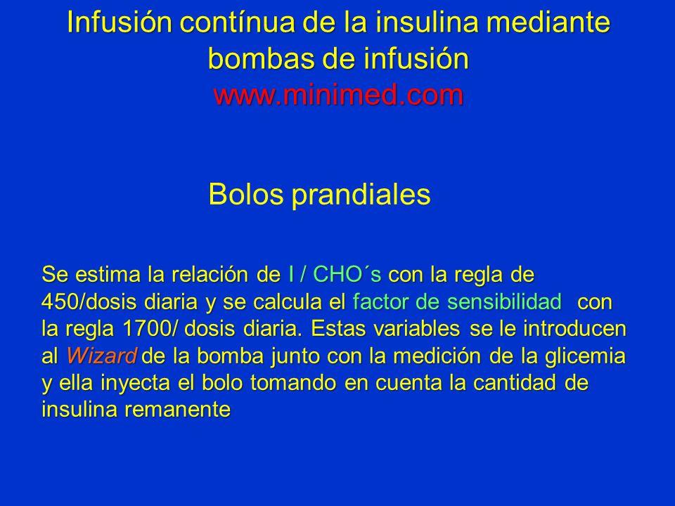 Infusión contínua de la insulina mediante bombas de infusión www
