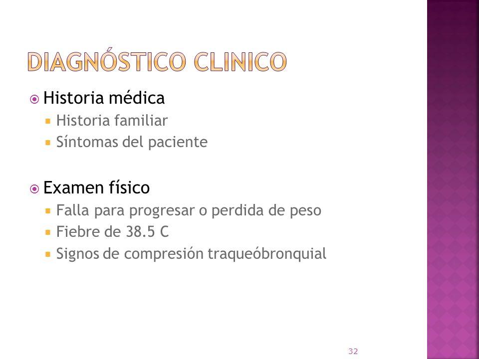 Diagnóstico clinico Historia médica Examen físico Historia familiar